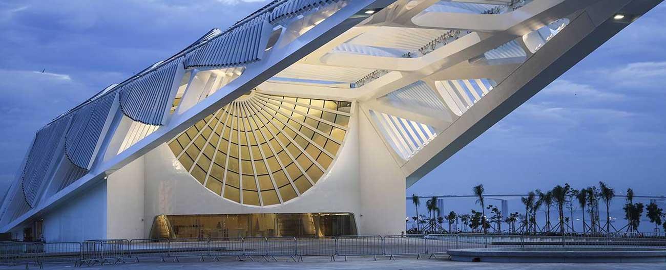 O magnífico Museu do Amanhã no Rio.